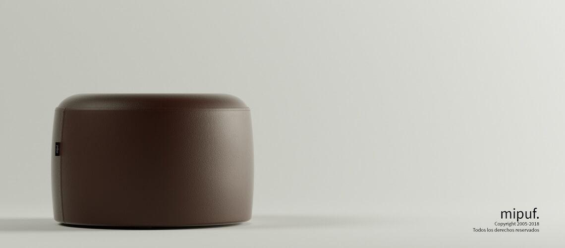 Puff Taburete 60x35 - Polipiel Chocolate