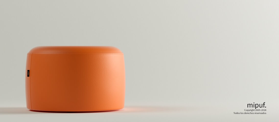 Puff Taburete 60x35 - Polipiel Naranja