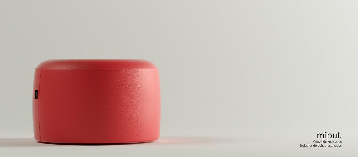 Puff Taburete 60x35 - Polipiel Rojo