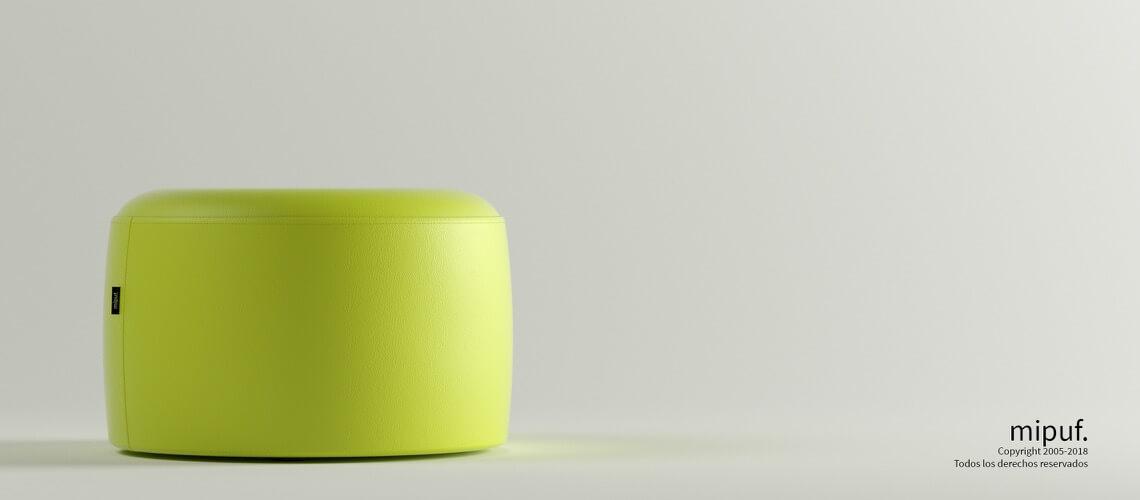 Puff Taburete 60x35 - Polipiel Verde