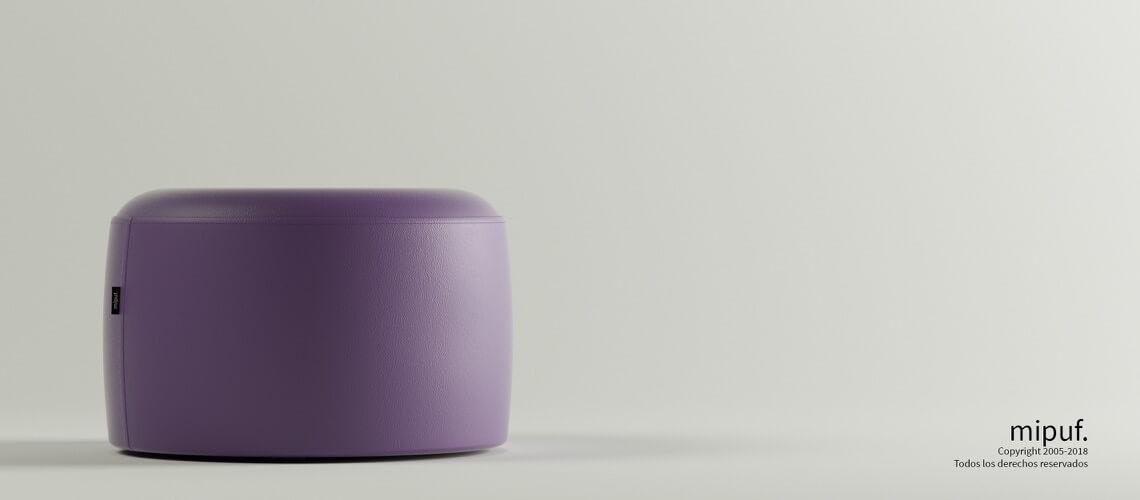 Puff Taburete 60x35 - Polipiel Violeta