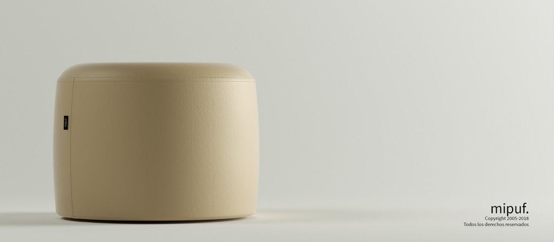 Puff Taburete 60x45 - Náutico Crema
