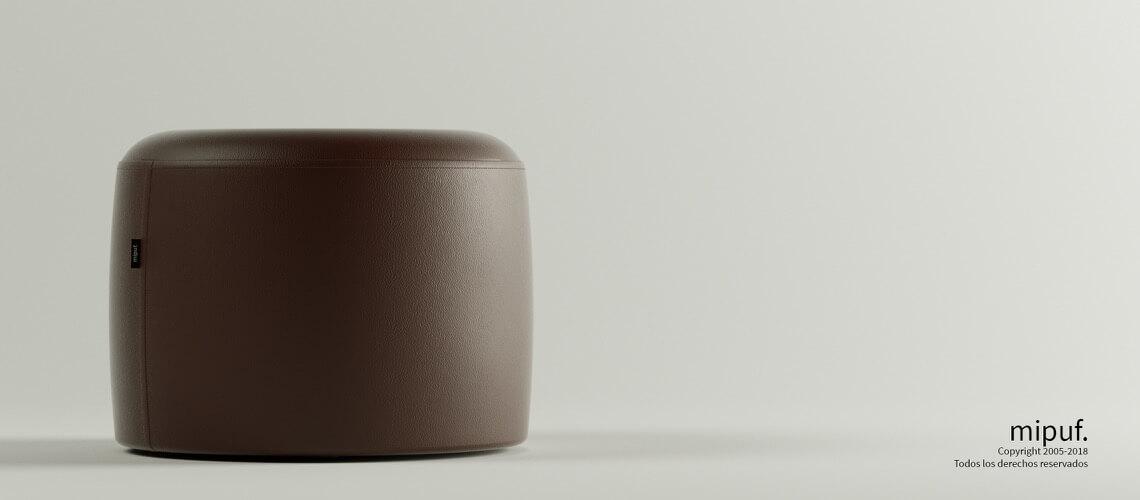 Puff Taburete 60x45 - Polipiel Chocolate