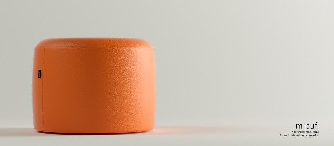 Puff Taburete 60x45 - Polipiel Naranja