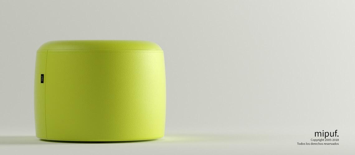 Puff Taburete 60x45 - Polipiel Verde