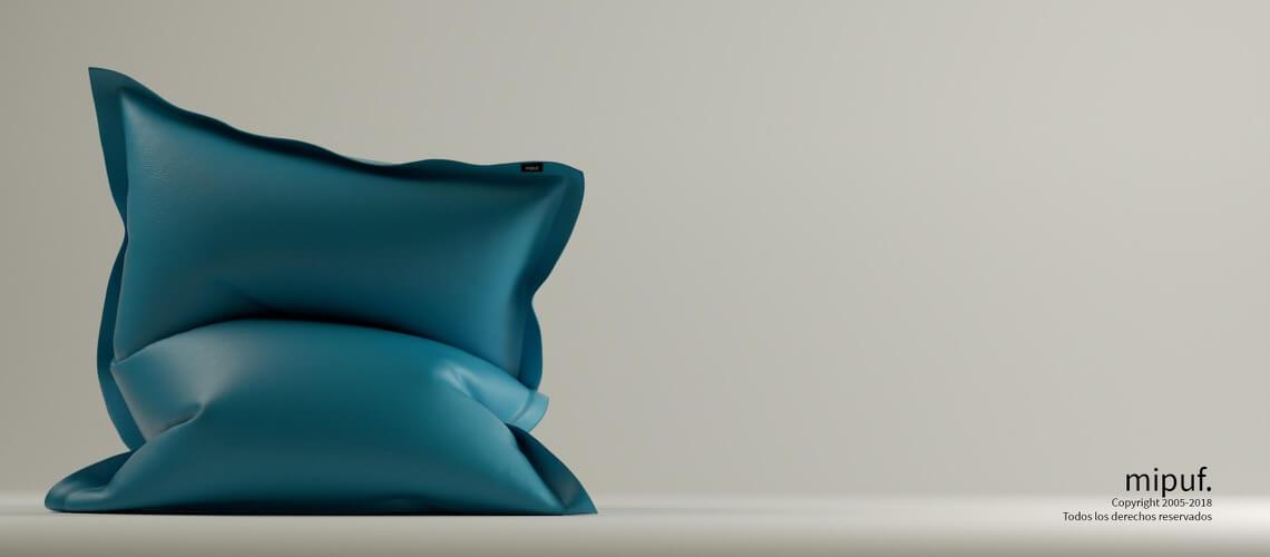 Big Puff Gigante - Polipiel Azul Turquesa