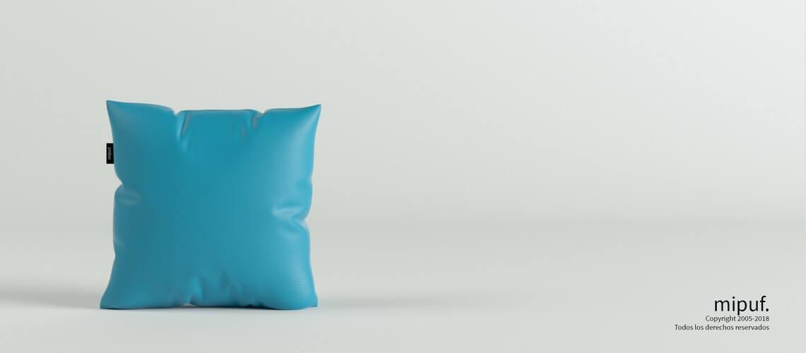 Cojín Azul turquesa 45x45