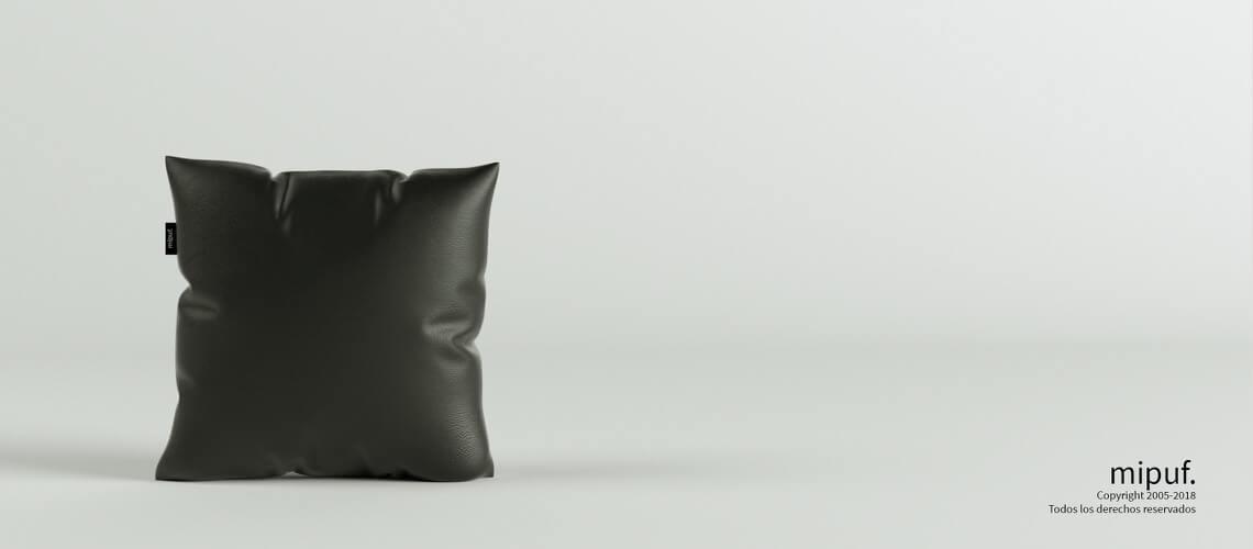 Cojín Negro 45x45