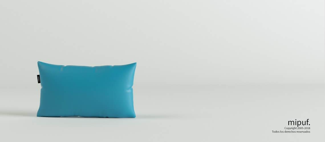 Cojín Azul turquesa 50x30
