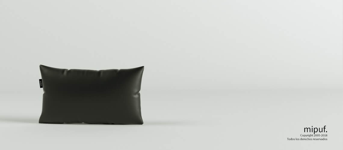 Cojín Negro 50x30