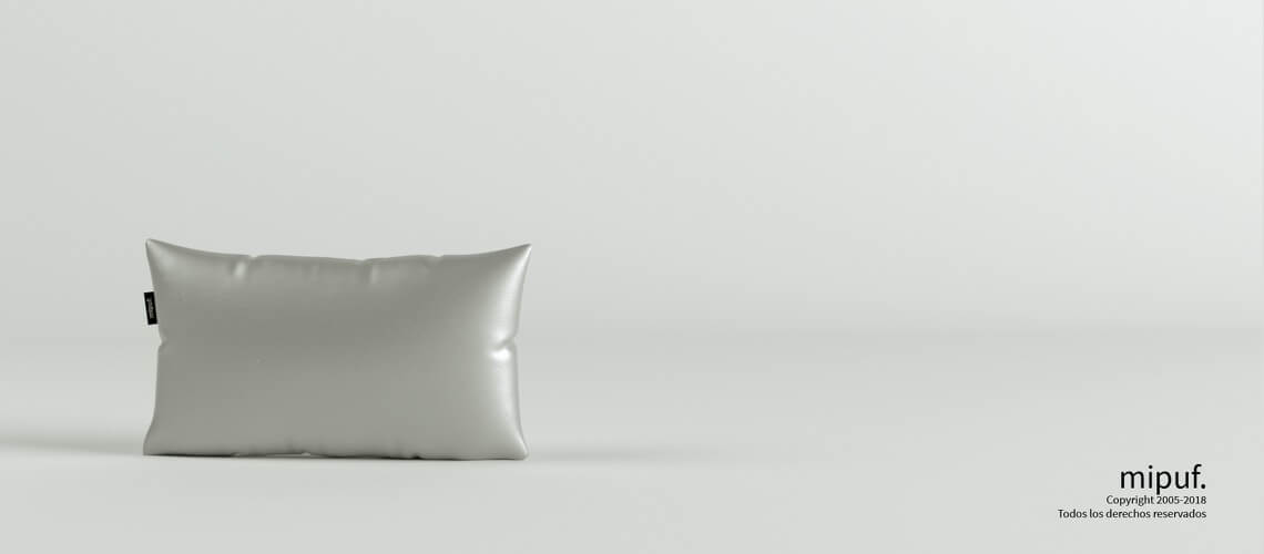 Cojín Plata 50x30