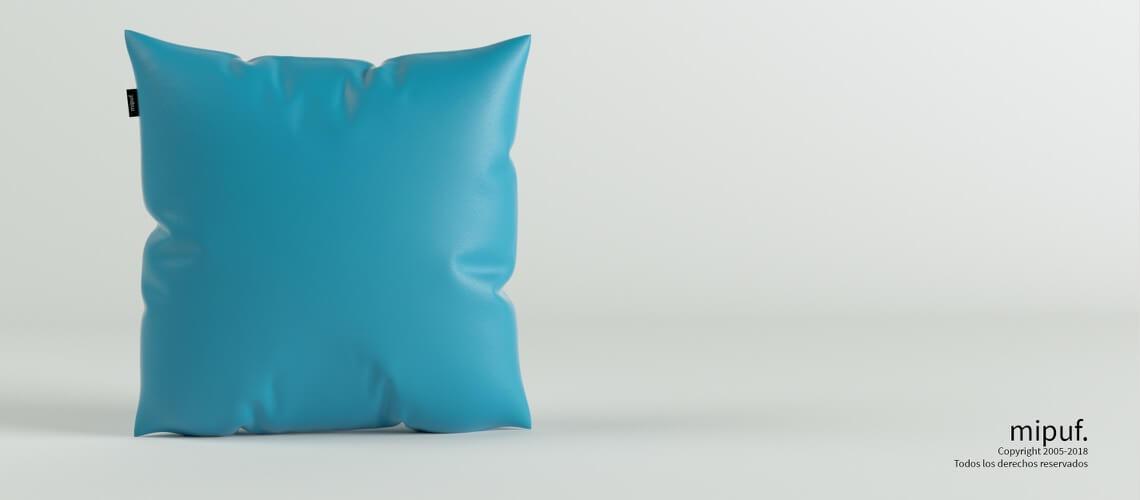 Cojín Azul turquesa 60x60