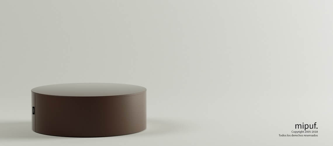Mesa Tubular 60x20 Polipiel Chocolate