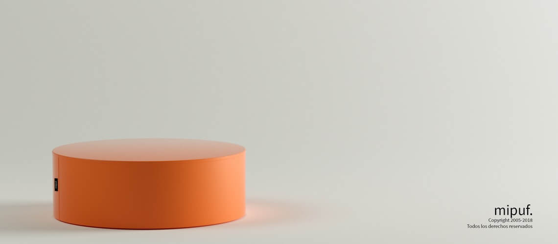Mesa Tubular 60x20 Polipiel Naranja