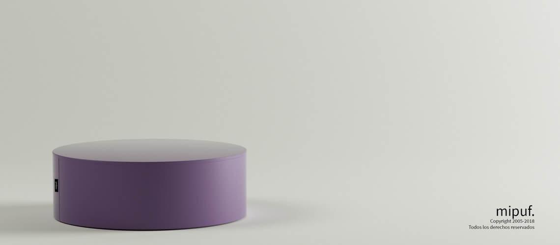 Mesa Tubular 60x20 Polipiel Violeta