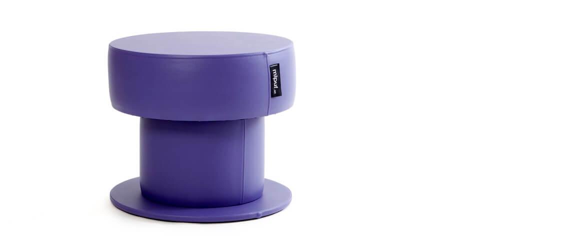 Mesa Puff Tubular 60x50 Polipiel Violeta