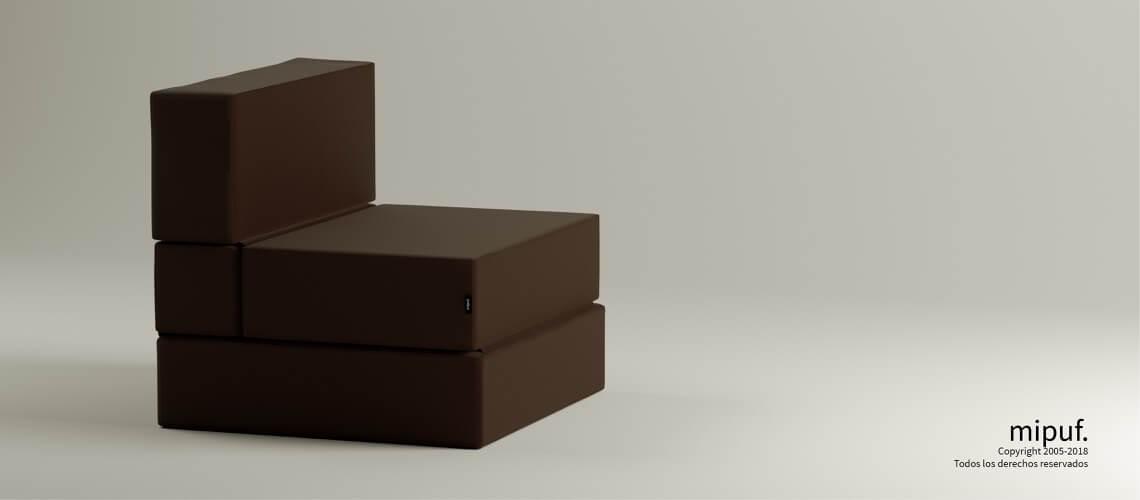 Puff Cama Convertible y Plegable - Acua Stop Chocolate