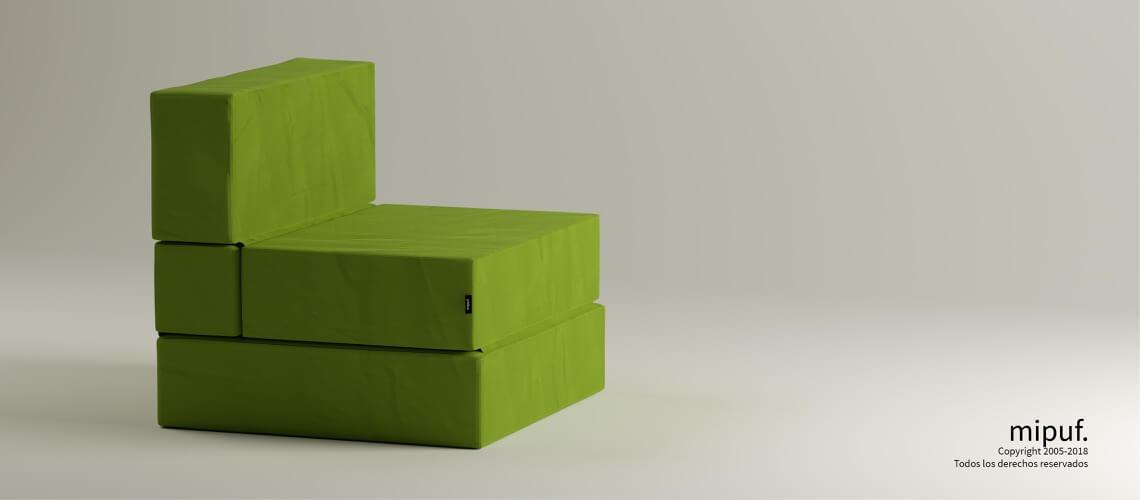Puff Cama Convertible y Plegable - Antelina Verde