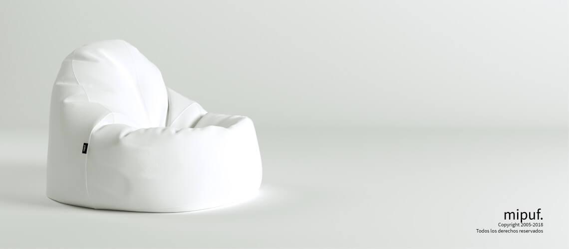 Puf Lounge - Náutico Blanco