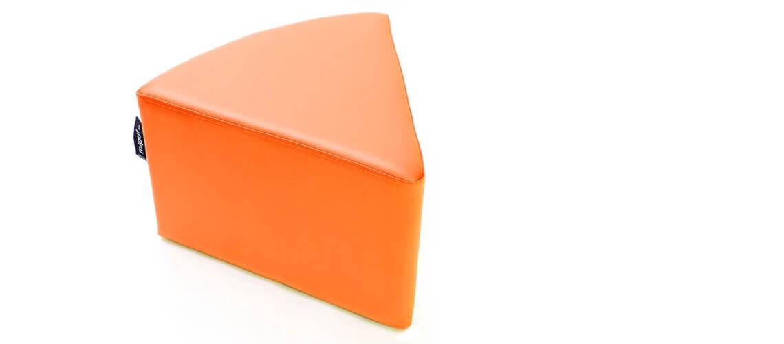 Puff Quesitos Polipiel Naranja